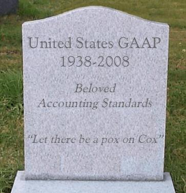 Farewell and RIP, you beloved accounting standard setter.