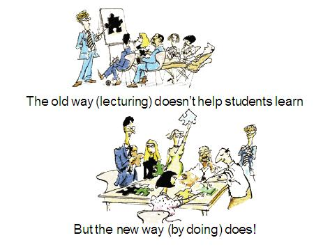There are two approaches to conducting a college class.