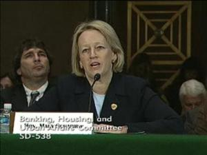 Mary Schapiro testifying before Senate Committee on Banking, Housing and Urban Affairs