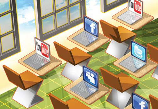 Image result for social media in classroom images